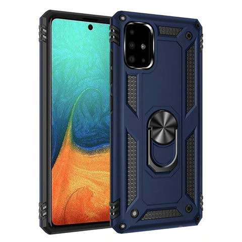 Tough Ring case for Samsung Galaxy A71 - Blue