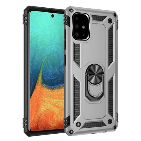 Tough Ring case for Samsung Galaxy A71 - Silver