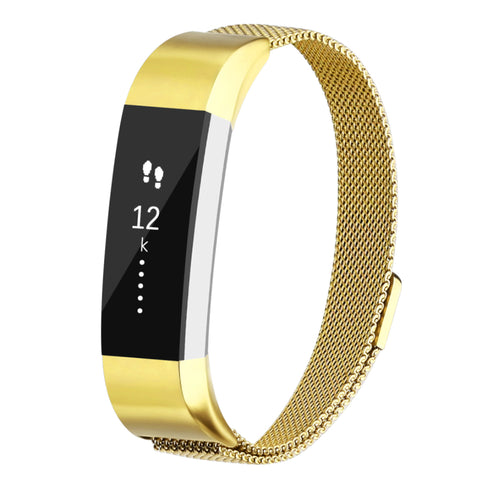 Milanese Strap for Fitbit Alta HR - Bright Gold