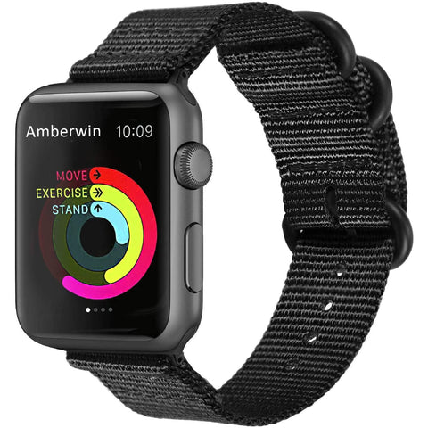 Nato Nylon Strap for Apple Watch 38/40mm - Black