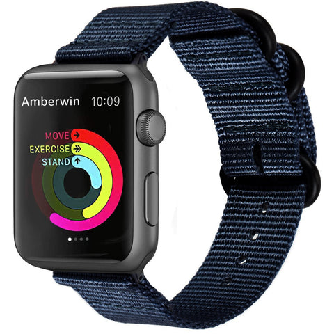 Nato Nylon Strap for Apple Watch 38/40mm - Navy Blue