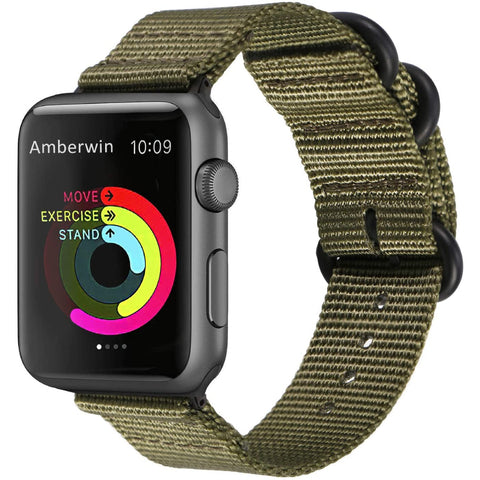 Nato Nylon Strap for Apple Watch 38/40mm - Army Green