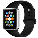 Rubber Strap for Apple Watch 38/40mm - Black - screenhug
