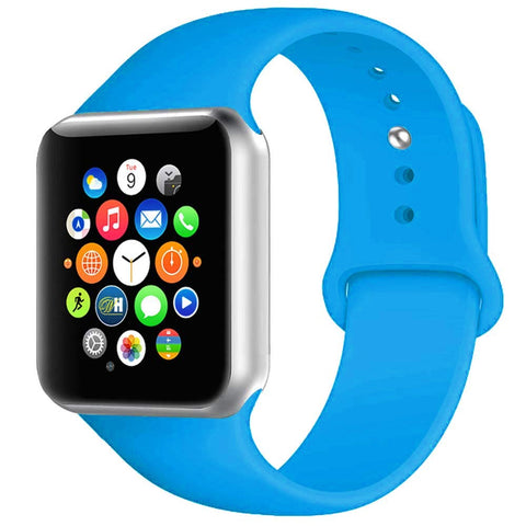 Rubber Strap for Apple Watch 42/44mm - Blue