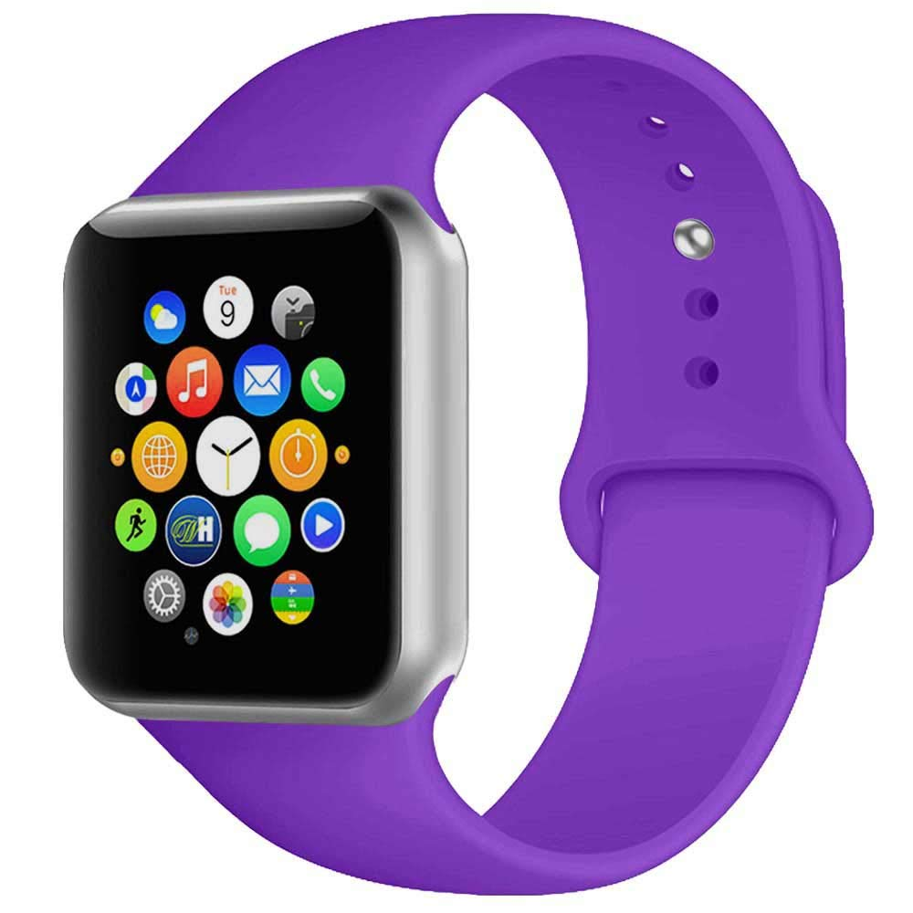 Rubber Strap for Apple Watch 42/44mm - Purple - screenhug