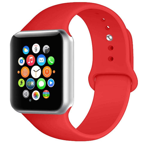 Rubber Strap for Apple Watch 42/44mm - Red