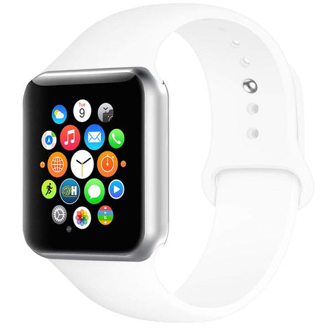 Rubber Strap for Apple Watch 42/44mm - White