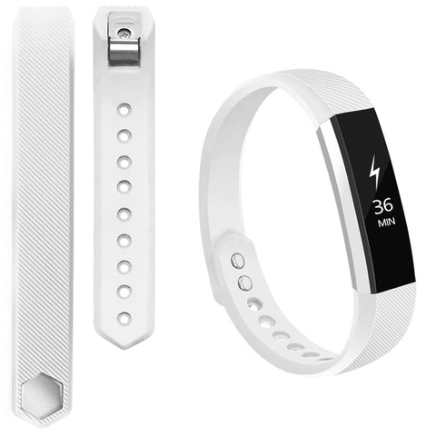 Rubber Strap for Fitbit Ace/Ace 2/Alta HR - White