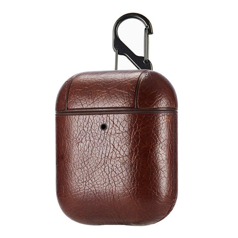 PU Leather Case for Apple Airpods - Dark Brown