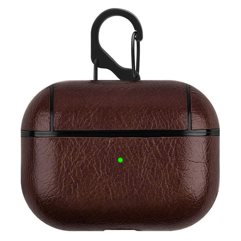PU Leather Case for Apple Airpods Pro - Dark Brown