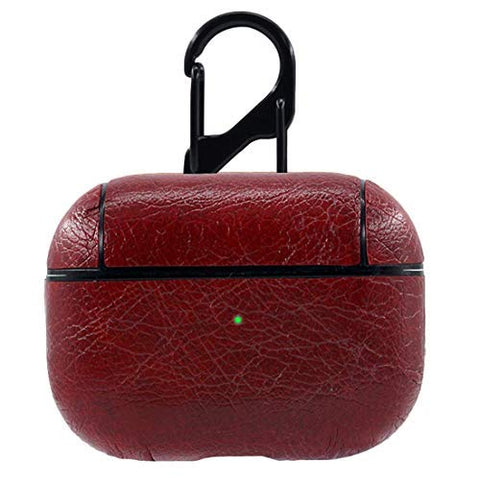 PU Leather Case for Apple Airpods Pro - Cherry Red