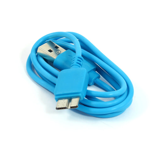 USB 3.0 Male A to Micro B Cable - Blue
