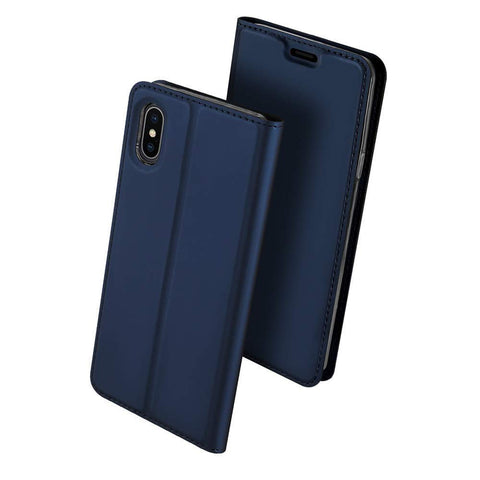 Slim Card Flip case for iPhone XS Max - Blue