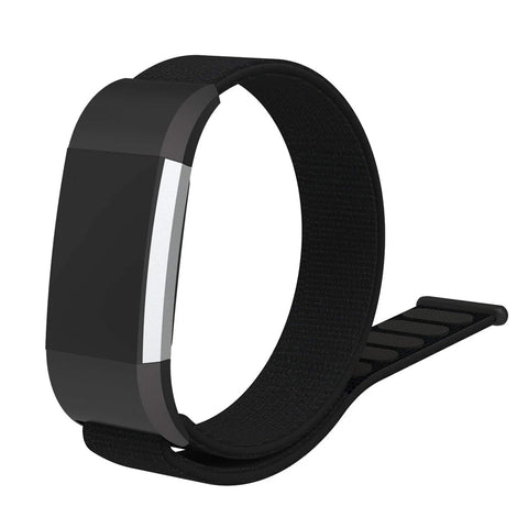 Nylon Sports Strap for Fitbit Charge 2 - Black