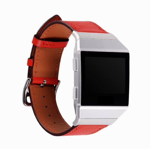 Leather Strap for Fitbit Ionic - Red - screenhug