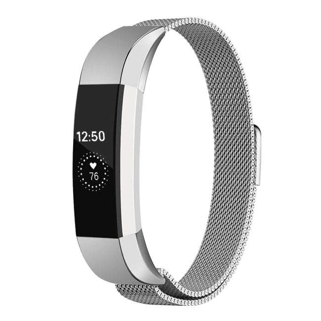 Milanese Strap for Fitbit Alta HR - Silver - screenhug