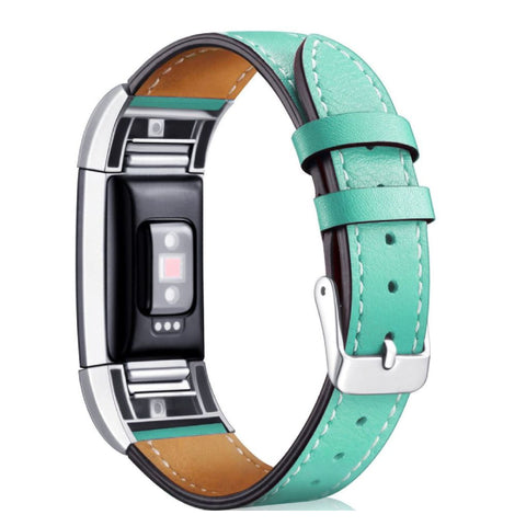 Leather Band for Fitbit Charge 2 - Teal