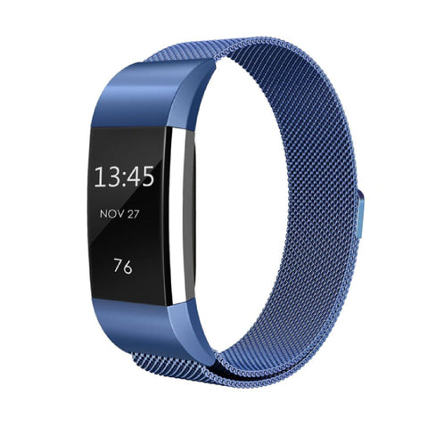 Milanese Metal Strap for Fitbit Charge 2 - Blue