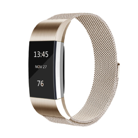 Milanese Metal Strap for Fitbit Charge 2 - Champagne Gold