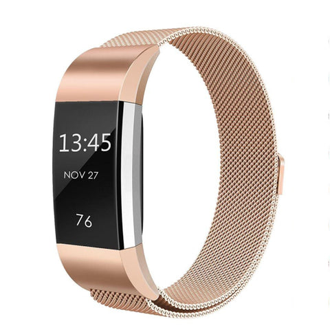 Milanese Metal Strap for Fitbit Charge 2 - Rose Gold