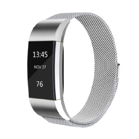 Milanese Metal Strap for Fitbit Charge 2 - Silver