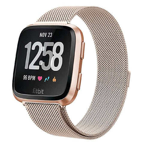 Milanese Strap for Fitbit Versa - Champagne Gold