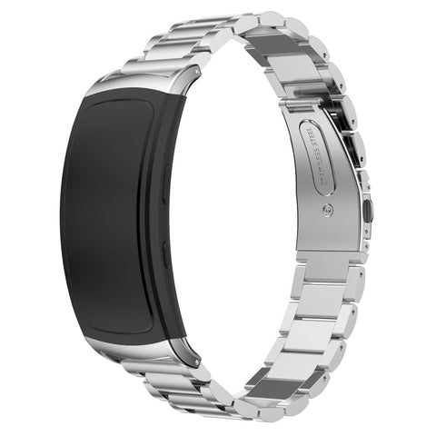 Steel Metal Strap for Samsung Gear Fit 2 - Silver