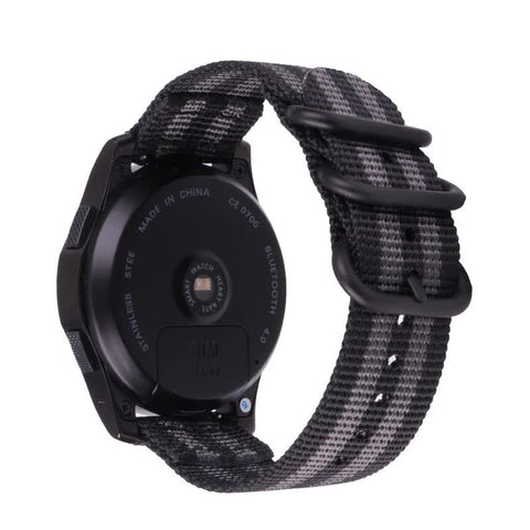 Nato Nylon Strap for Samsung Galaxy Watch 20mm - Grey/Black