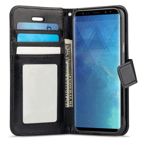 Classy Wallet Case for Samsung Galaxy S9 Plus - Black
