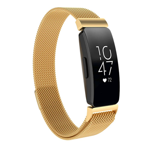 Milanese Strap for Fitbit Inspire - Bright Gold