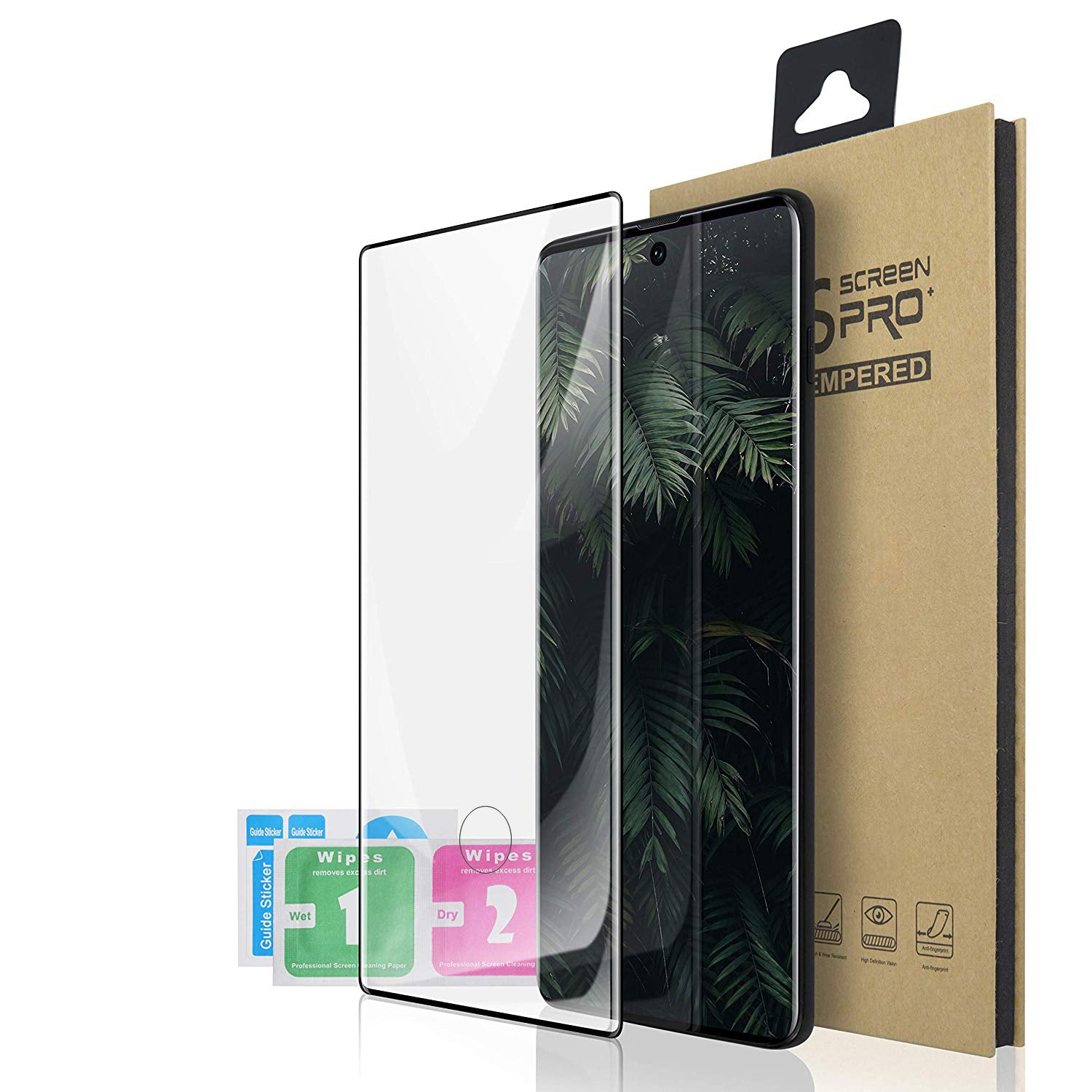 Glass Screen Protector for Samsung Galaxy Note 10 - Case Black - screenhug