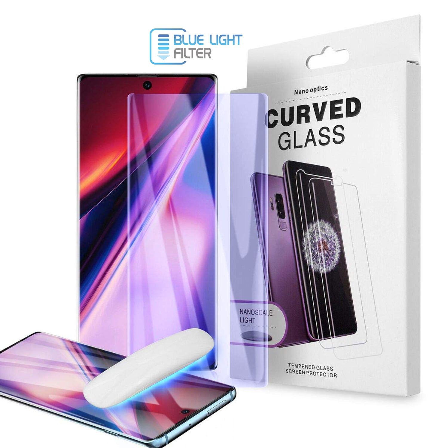 Anti Blue Light UV Glass Screen Protector for Samsung Galaxy Note 10 - Clear - screenhug
