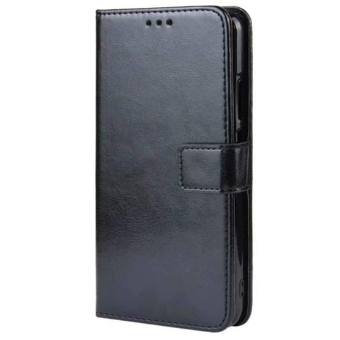 Leather Wallet case for Huawei Nova 5T - Black