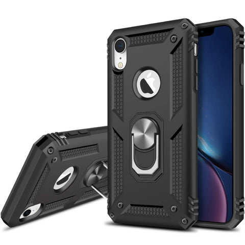 Tough Ring Stand case for iPhone XR - Black