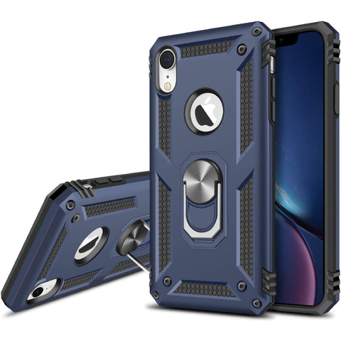 Tough Ring Stand case for iPhone XR - Blue