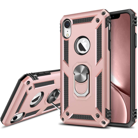 Tough Ring Stand case for iPhone XR - Rose