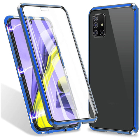 Tough Glass Magnetic case for Samsung Galaxy A31 - Blue