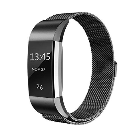Milanese Metal Strap for Fitbit Charge 2 - Black