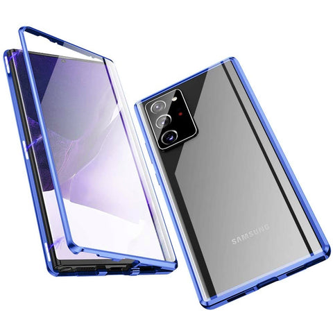 Metal Magnetic Glass case for Samsung Galaxy Note 20 Ultra - Blue