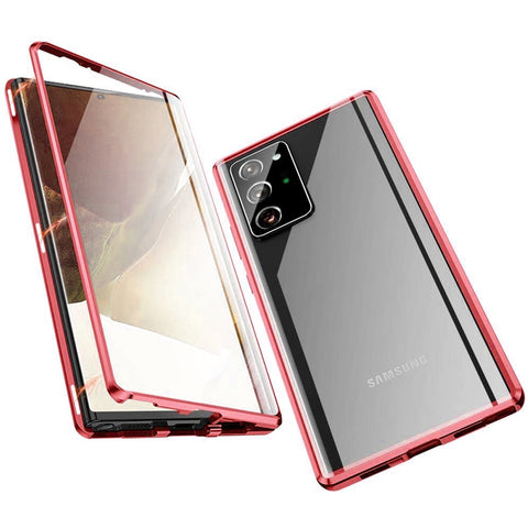 Metal Magnetic Glass case for Samsung Galaxy Note 20 Ultra - Red