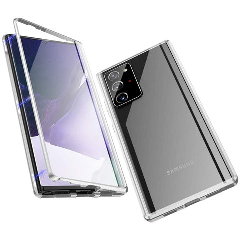 Metal Magnetic Glass case for Samsung Galaxy Note 20 Ultra - Silver