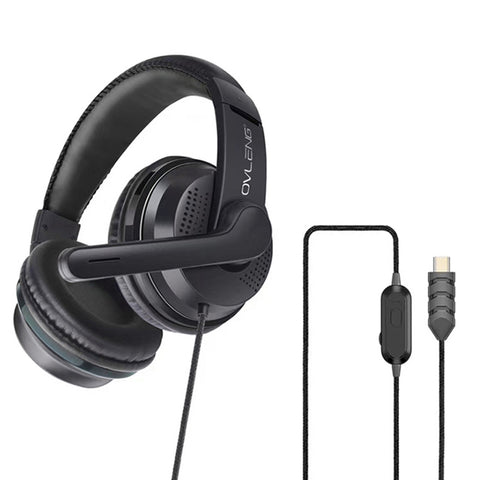 OVLENG U200 Gaming Headset (Type C USB) - Black