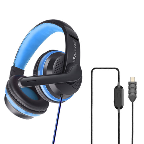OVLENG U200 Gaming Headset (Type C USB) - Blue
