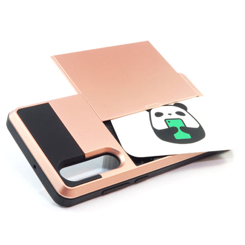 Huawei P30 Card Tough case - Rose Gold