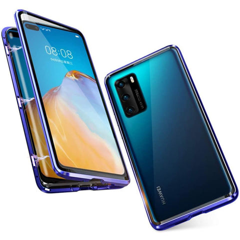 Tough Glass Magnetic case for Huawei P40 - Blue