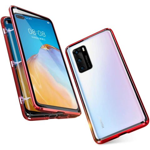 Tough Glass Magnetic case for Huawei P40 - Red
