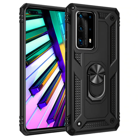 Tough Ring Stand case for Huawei P40 - Black