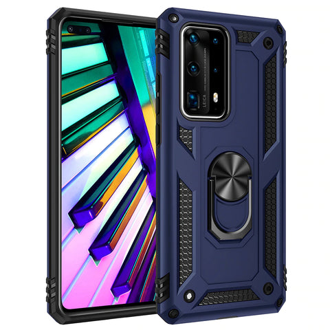 Tough Ring Stand case for Huawei P40 - Blue