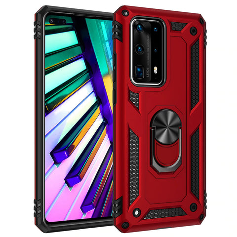 Tough Ring Stand case for Huawei P40 - Red