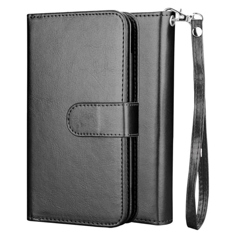 Big Detachable Wallet case for Samsung S20 Plus - Black